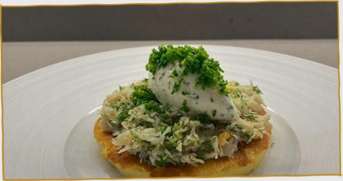 Potato Boxty and St Tola with Crab