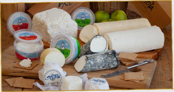 Group of St. Tola Goat Cheese Products