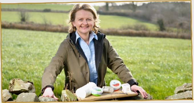 Siobhan with the St Tola Goat Cheese Range at Stone Wall