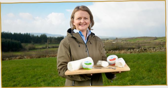 Siobhan with the St Tola Goat Cheese Range